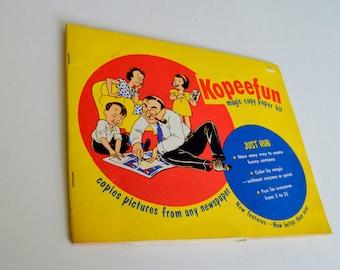 Vintage 1950s Kopeefun Children's Coloring Book, Magic Copy Paper, Ephemera