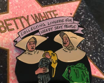 Golden Nuns soft enamel pin