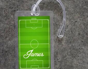 Soccer Luggage Tag Personalized Luggage Tag Custom Luggage Tag Gym Bag ID Tag Diaper Bag