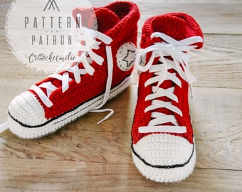 CROCHET PATTERN #001---  Cool crochet slippers instant download