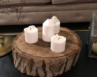 Tree Trunk Candle Set