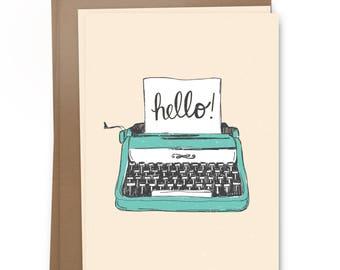 Hello! - Typewriter Card Pack