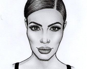 Kim Kardashian Print