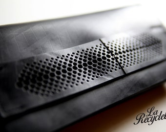 Purse in inner tube recycled. Mens, Upcycling, made in France.