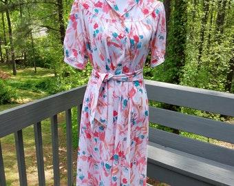 1970s dress//Nikki Floral Dress//vintage 70s dress
