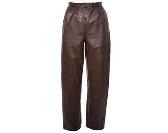 Pleated Leather Pant - Women's Size S/M