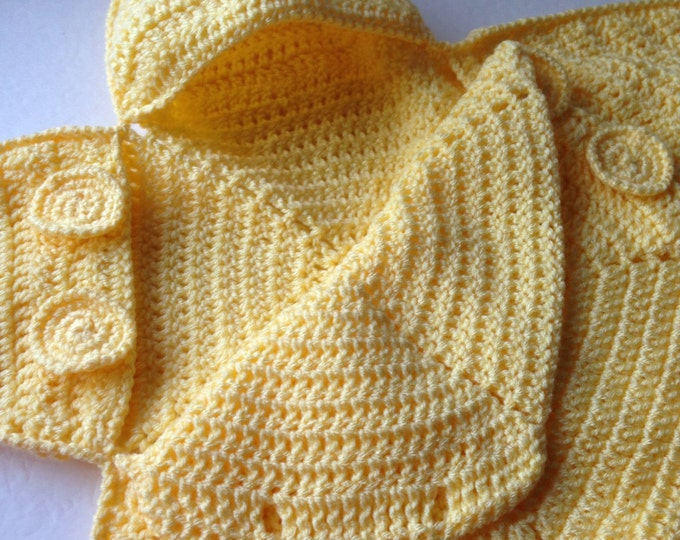 Baby Bunting Bag - Yellow Star Bunting - Handmade Crochet - Made to Order