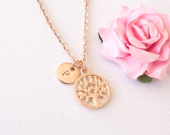 Rose gold tree necklace, tree of life necklace, tree necklace, tree of life, family tree necklace, rose gold necklace, rose gold jewellery