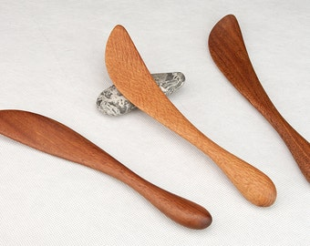 Small Pan Stirrer - Left or Right Hand - Great for Sauces - Tasting Spoon - Elegant Modern Minimal Design - Handmade by Someone Who Cooks