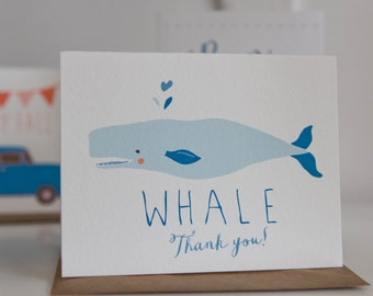 Whale Thank You Folding Card With Envelope