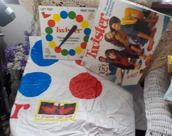 Twister The Game that Ties You in Knots, Vintage Games, Vintage Toys, Toy,1990 s Great Gift Idea :)s*