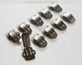 X 10 metal shoe clips