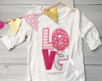 LOVE Valentines Long Sleeved Tshirt