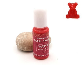 Pearlescent pigments 15grams light red color dye