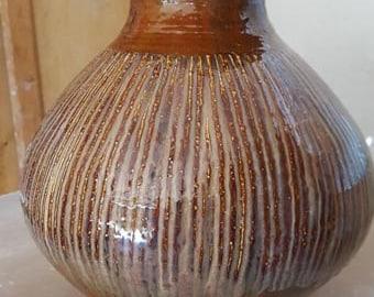 Large fluted covered jar