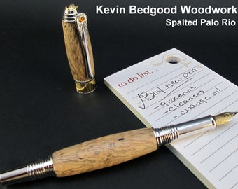 Pen Custom Fountain Dyed Palo Rio, Fine Writing Instrument, wood pen
