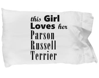 Parson Russell Terrier - Pillow Case - Dog Gifts For Women - Gifts for Dog Lovers - Handmade Gift For Her