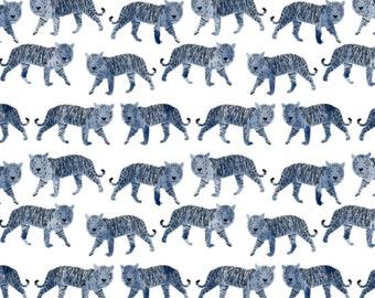 Lovey Blue Watercolor Tigers. Lovey. Tiger Lovey. Tigers Lovey. Mini Baby Blanket. Security Blanket. Lovie. Minky Lovey.