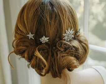 Starburst wedding hair pins - Aurora No. 2193