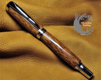 Handmade Rollerball pen made from Red Palm