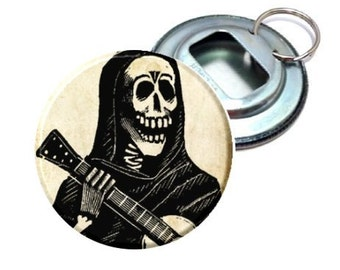 Bottle Opener - Day of the Dead Skeleton Guitar