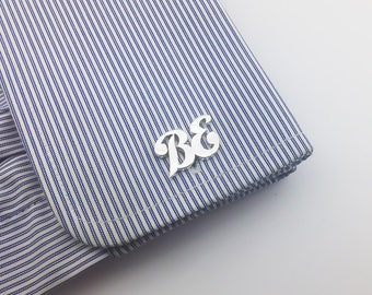 Initial Cufflink -  Personalized Cufflinks - Groom Wedding Cufflinks -Letters Cufflinks - Initials Cufflinks - father's day gift