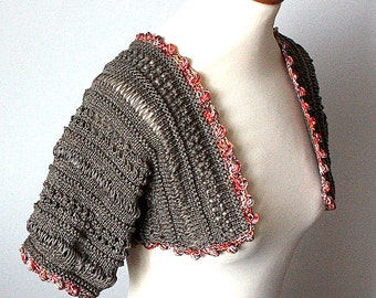 Knitting Pattern (pdf file) Summer Bolero ( sies S-M-L)