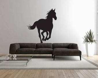 horse wall decal, equestrian wall stickers, equestrian wall decals, steed wall stickers, stallion wall decal, /i14