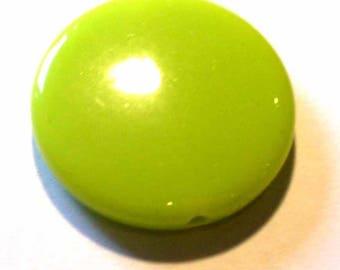5 beads 25pcs green lime opaque 21mm AP309 Green