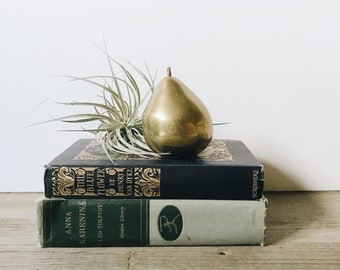 Vintage brass pear