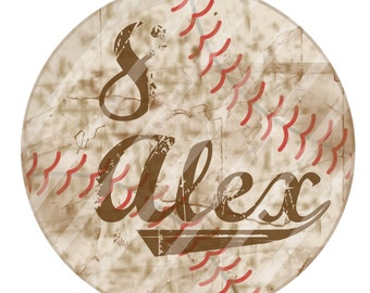 Baseball with number and name digital download for irons, heat transfer, Scrapbooking, Personalized, DIY YOU PRINT
