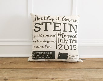 Wedding day Memory Pillow Cover