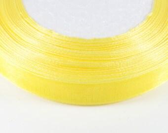 10 meters of 12mm YELLOW Organza Ribbon