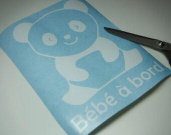 vinyle Baby on board panda bébé à bord