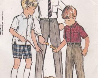 1960's Sewing Pattern - McCalls No 7370 Boys Shirt, Slacks, Shorts Size 8 - Uncut, factory folded