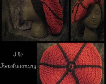 THE REVOLUTIONARY - Crochet dreadlock tam, slouch cap (rasta hat, 70s, bohemian) - Made to Order