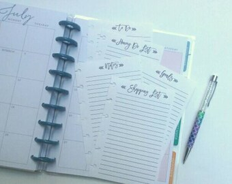 Happy Planner Inserts, Happy Planner To Do List, Happy Planner Shopping List,  Happy Planner Notes, Planner Honey Do List (20)