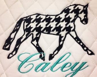 Applique Embroidered Dressage Saddle Pad monogram personalized