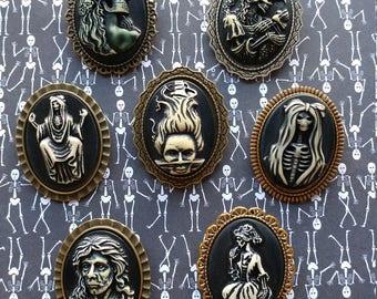 Gothic Skeleton Lolita Steampunk Cosplay Fantasy Cameo Brooch