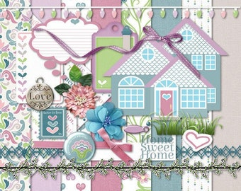 Love Lives Here #1 Digital Scrapbook Kit