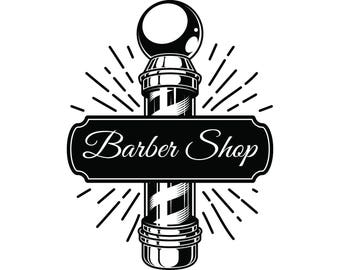 Barber Shop Vinyl Decal ~ Choice of color ~~~