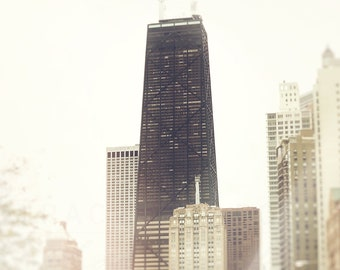 John Hancock Tower | Chicago Photography | Skyline Wall Art Print | Urban Home Decor | Neutral Walls | Chicago Photograph | Lake Shore Drive