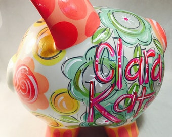 Piggy Bank for girls,  Personalized Piggy Bank for Girls