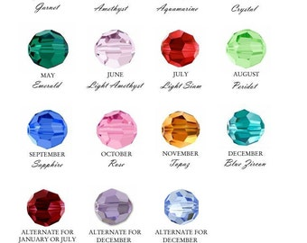 Add a Birthstone or Pearl Charm 3mm -small
