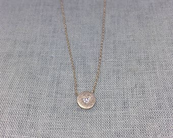 Heart Stone Dainty Necklace