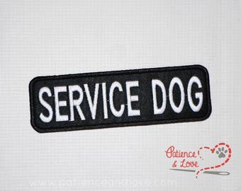1 Patch, Sew-on, 6 inch by 2 inch, SERVICE DOG Patch, customizeabke, embroidered