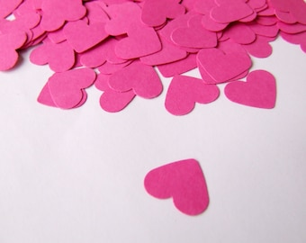 Wedding confetti hearts - Valentines day - Pink Paper hearts - die cut hearts - paper heart confetti - weddings