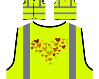 Heart made out of hearts Safety Jacket Vest w123v