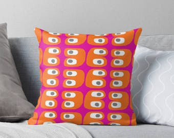 Pink and Orange pillow - Decorative pillow cover - Colorful pillow cover - Scandinavian pillow - Modern pillow cover - Scandinavian design