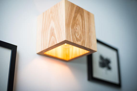 Wood lamp q255 handmade wall lamp wooden lamp sconce wall aloadofball Images